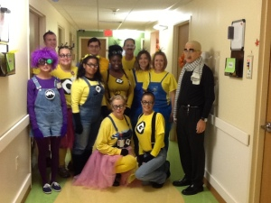 0823 – Minions from Children's Hospital Orthopedics Department pause for a photo op.